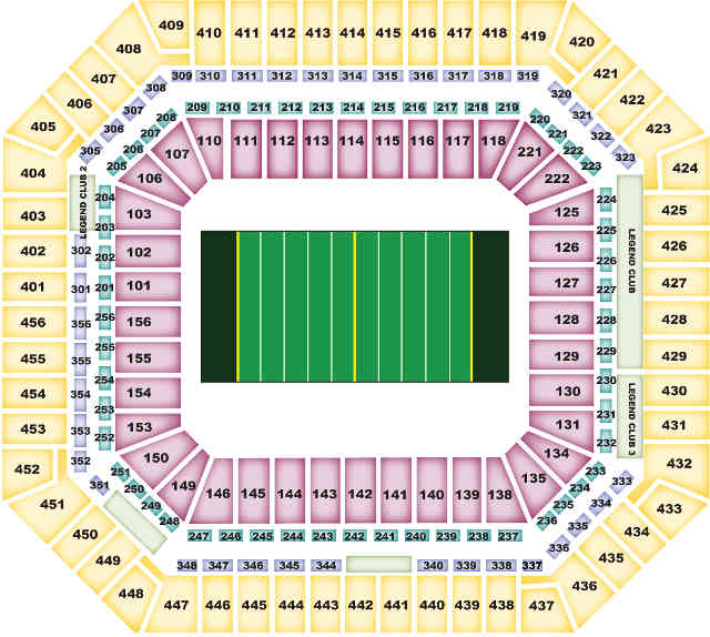 Miami Dolphins Seating Chart for SunLife Stadium